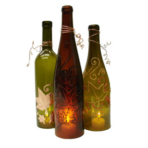 Free recycled luminaries project sheet bottle art delphi for Recycled glass projects