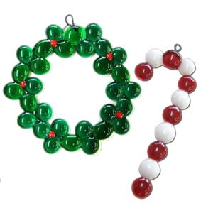 Free 1-2-3 Pebble Ornaments Pattern