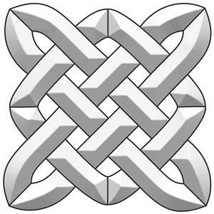 Celtic Square Bevel Cluster