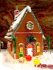 Free glass gingerbread house project guide holiday Make your own gingerbread house online