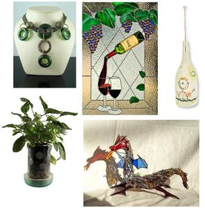 Free recycled bottle art ideas inspiration sheet projects for Recycled glass art projects