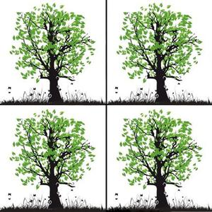 Tree Green Enamel Decals - 4 Pack