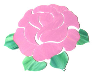 Pink Rose Pre-Cut Stepping Stone Kit
