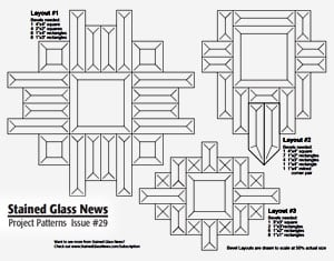 Beveled glass panel and method of making - Stained Glass Overlay, Inc.