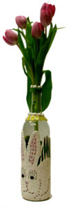 Free Mosaic Bunny Vase Project Guide