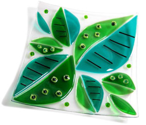 Fused Glass Fire Dish