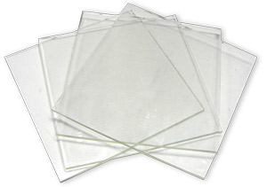 6 Clear Glass Squares 4 Pack - 96 COE