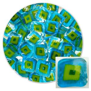 Turquoise Hip To Be Square Millefiori - 90 COE