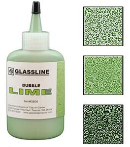 Glassline Bubble Pen - Lime