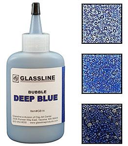 Glassline Bubble Pen - Deep Blue