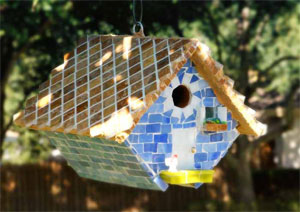Free Mosaic Bird House Project Guide