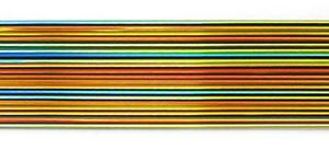 CBS Rainbow Dichroic On Black 2mm Stringers - 90 COE
