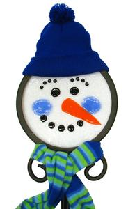 Free Fused Snowman Stake Pattern