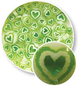 Green Heart Millefiori - 96 COE