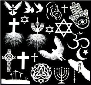 Religion White Enamel Decals