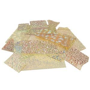 1/2 lb Wissmach Texture Scrap on Clear - 90 COE