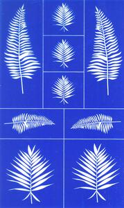 Rub N Etch Stencil - Ferns