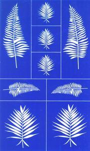 Rub N Etch Stencil - Ferns