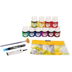 Premium Pebeo Glass Painting Starter Kit