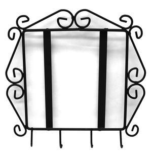 Metal Tile Frame with Key Hooks