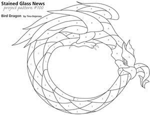 Free Bird Dragon Sgn Pattern 100 Window Panels Delphi Glass