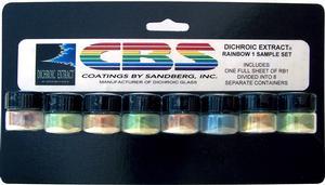 CBS Dichroic Extract 8 Piece Rainbow 1 Sample Set
