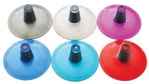 Colored Transparent Bottle Top Stems - 6 Pack