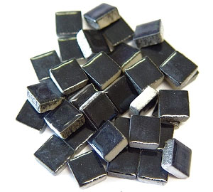 3/8 Black Ceramic Tile - 1 lb