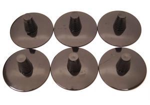 Jabiru Black Opaque Bottle Stems - 6 Pack