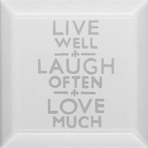 Delphi Studio Live Laugh Love Engraved Bevel