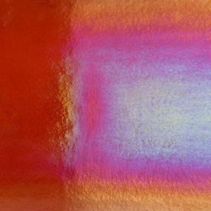 8 x 10 Bullseye Red Orange Transparent Rainbow Iridized - 90 COE