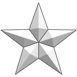 Large Barn Star Bevel Cluster