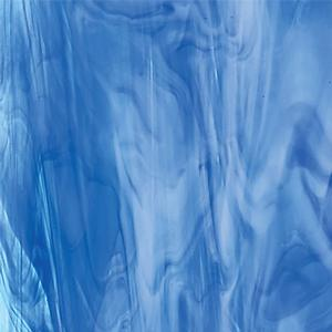 Oceanside Sky Blue, Dark Blue and White Translucent Streaky - 96 COE