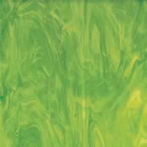 Oceanside Lime Green & White Translucent Streaky - 96 COE