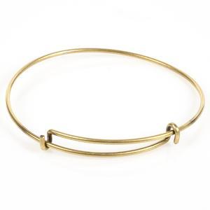 Antique Brass Plated Adjustable Bracelet