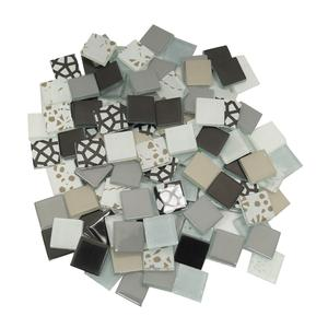 3/4 Industrial Patchwork Glass Tile Assortment - 1 lb