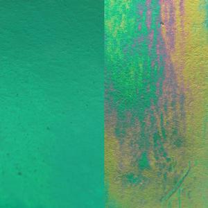 11 x 11 Y-96 Teal Transparent Iridized - 96 COE