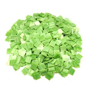 3/4 Light Green Opalescent Stained Glass Chips - 700 Pieces