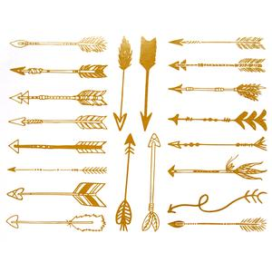 Gold Arrow Decals